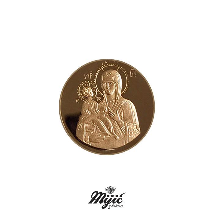 Kovani zlatnik Bogorodica Trojeručica