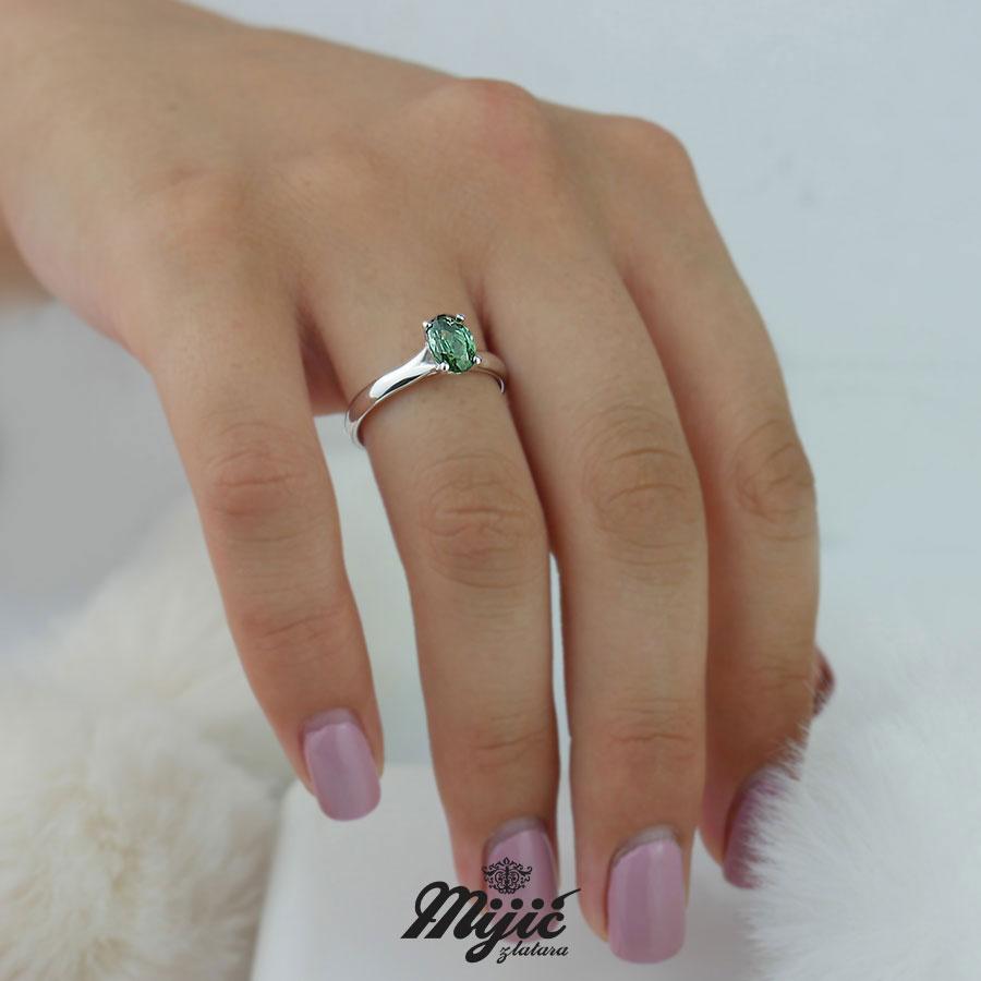 Dijamantski prsten sa turmalinom
