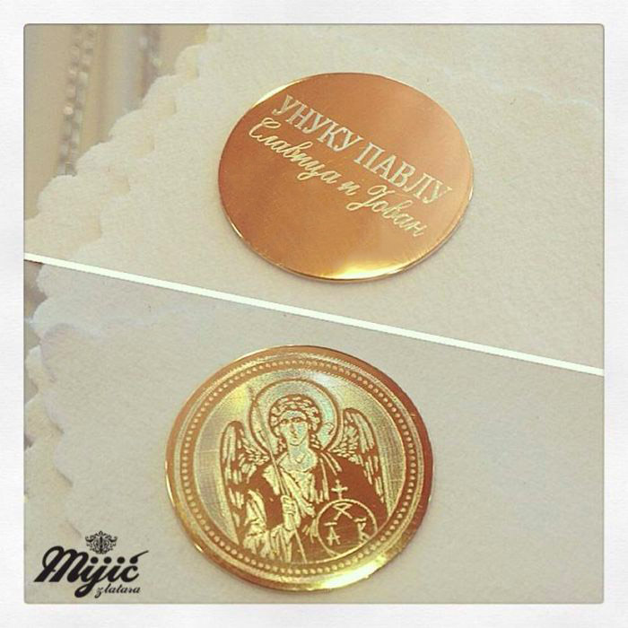 Gravirani zlatnik Ostrog